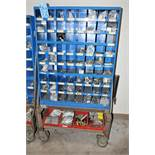 72-Bin Organizer Rack with Hardware Contents, Portable