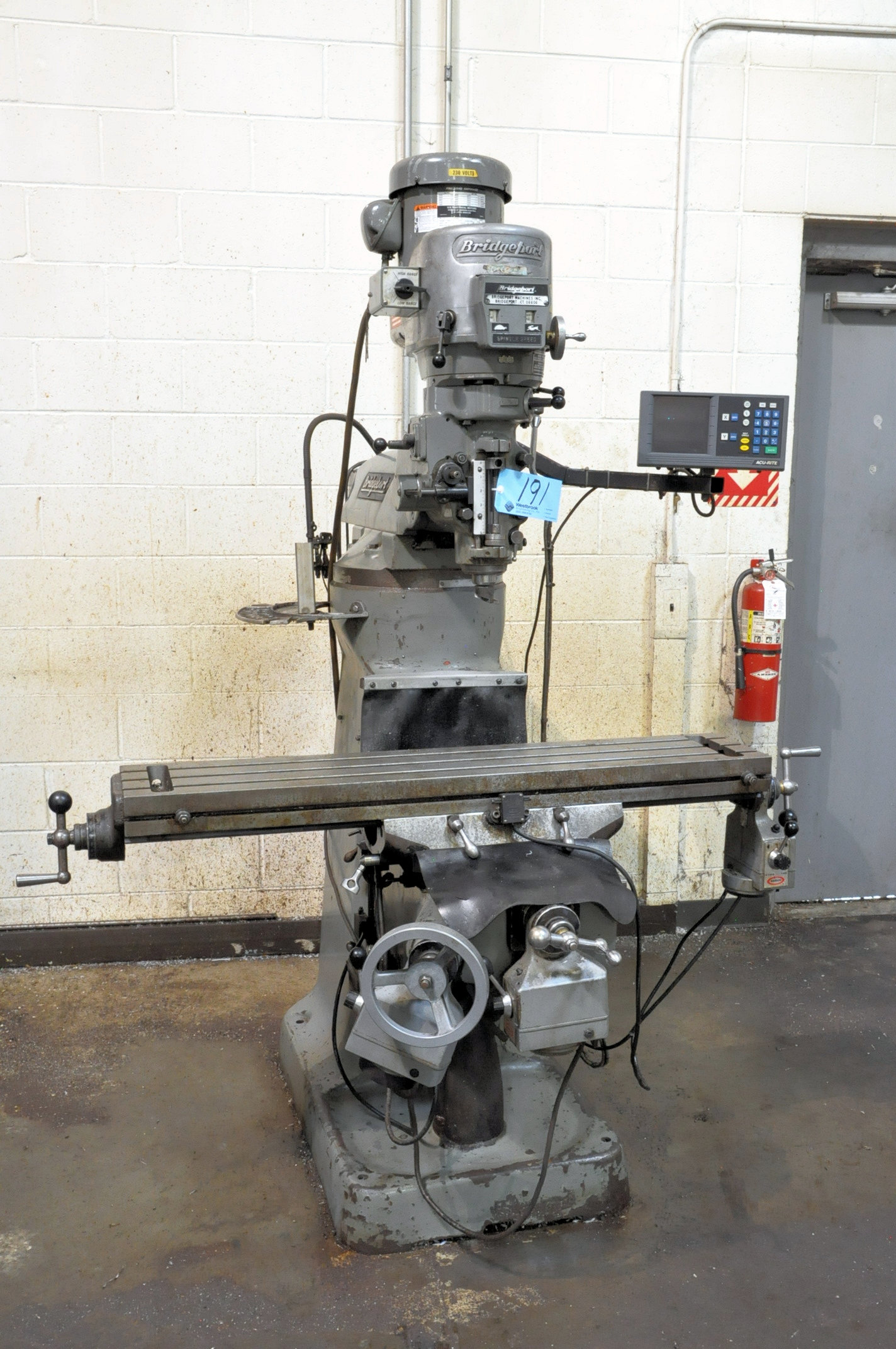 Bridgeport 2-HP Variable Speed Vertical Milling Machine, 2-Axis Readouts, X, Y and Knee Powered Feed - Image 2 of 6