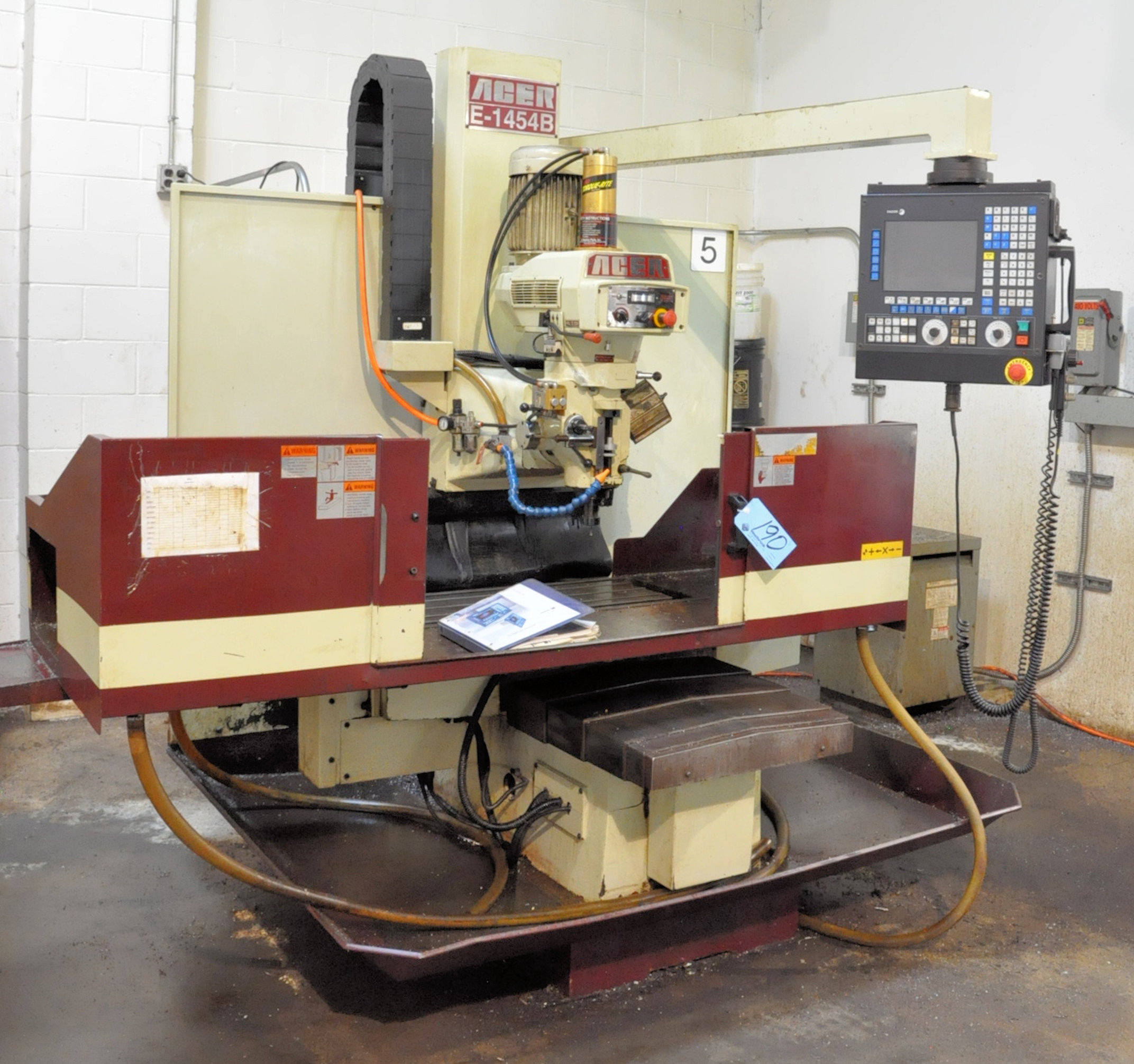 Acer Model E-1454B, 3-Axis CNC Bed Type Vertical Milling Machine, Fagor Control 5-HP (2009)