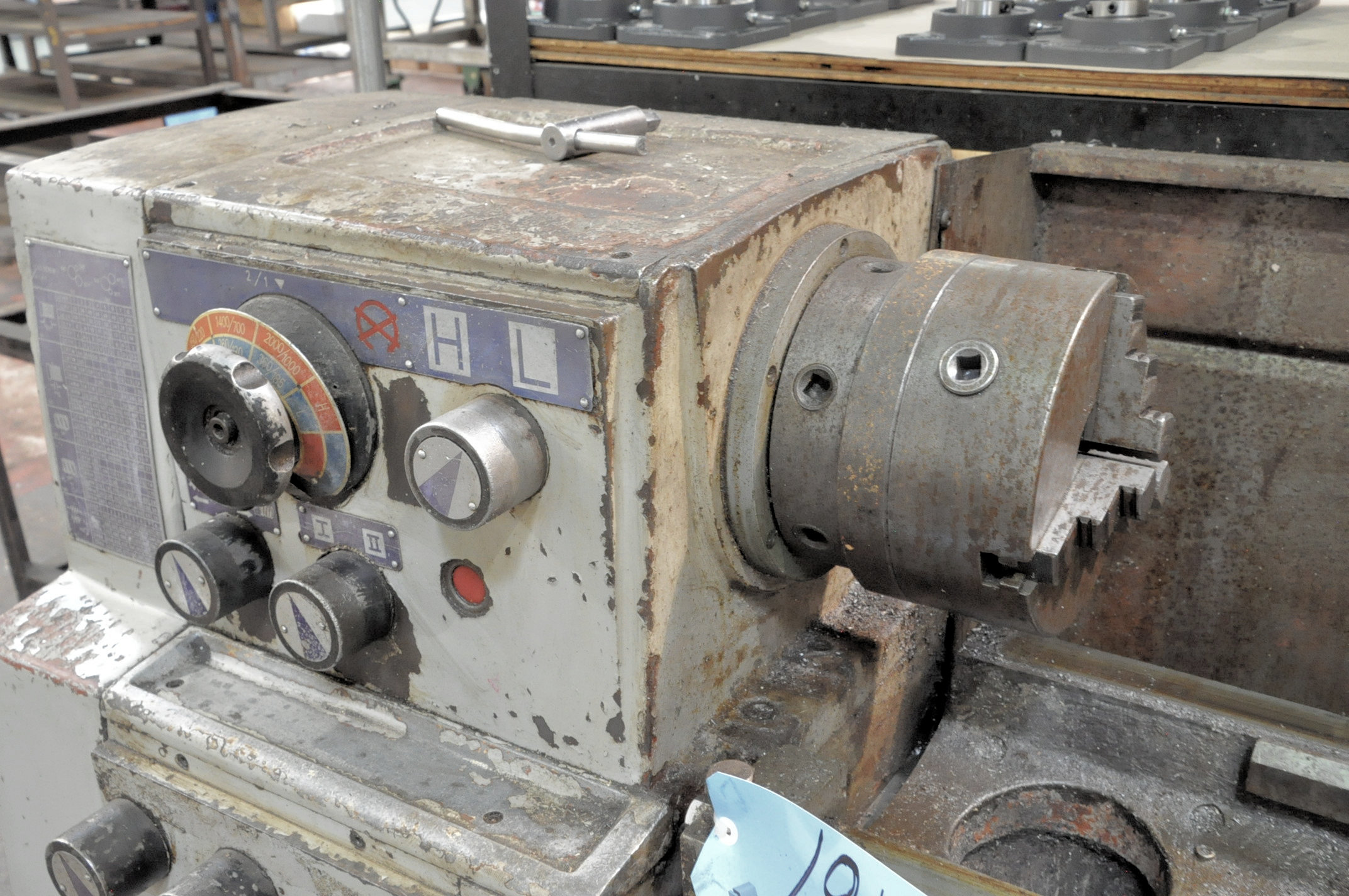"""LS Model 1660G, 16"""" x 60"""" Geared Head Engine Lathe, (1994), 8"""" 3-Jaw Chuck, Tool Post, Tail Stock - Image 2 of 6"""