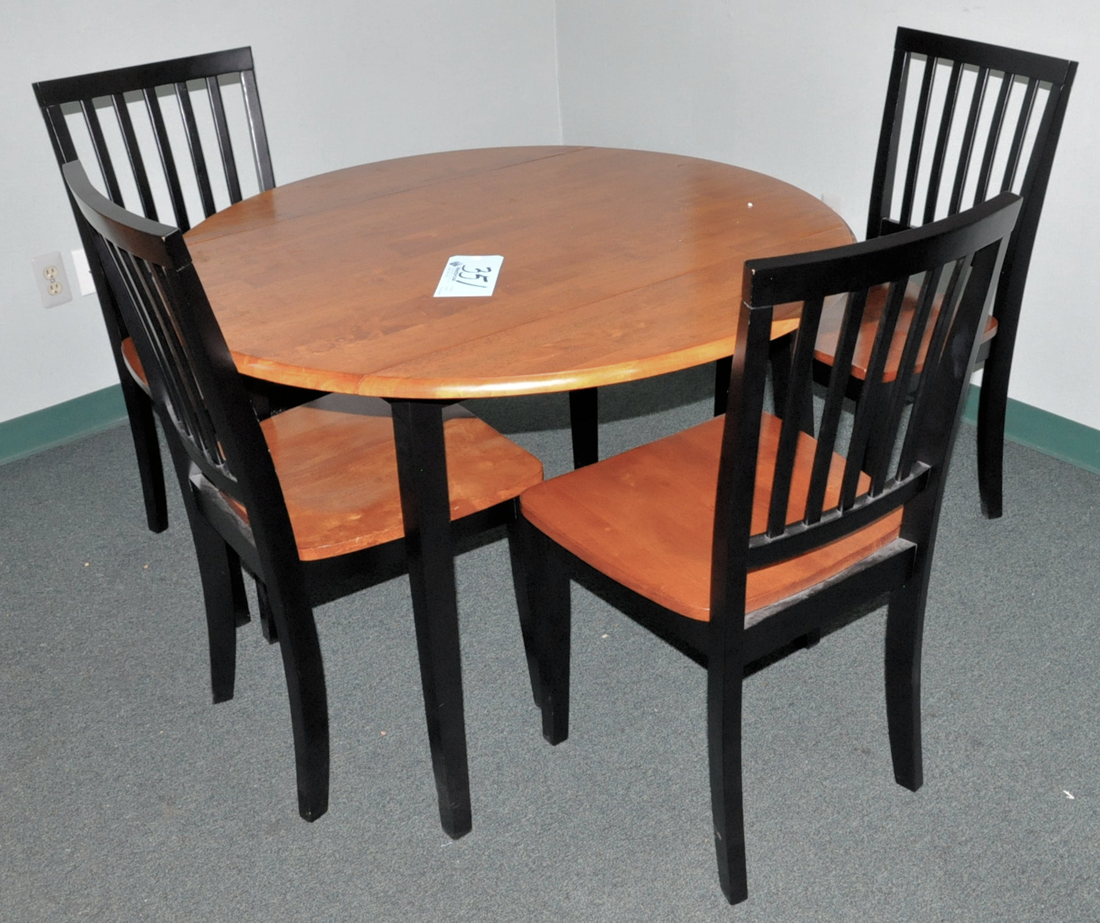 Lot-(2) Desks, Table, (5) Chairs, Pedestal Stand, Dry Erase Board and (2) Wall Prints (No contents) - Image 2 of 3