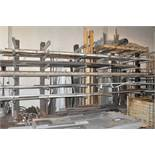 Lot-Steel Cantilever Stock Rack with Welded Attached Back Rack,