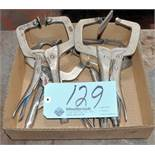 Lot-(4) Vise Grip Clamps in (1) Box