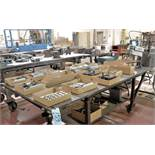 """98"""" x 48"""" x 1"""" Portable Steel Table, (Contents Not Included), (Not to Be Removed Until Empty)"""