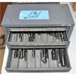 Huot 3-Drawer End Mill Cabinet with End Mill and Drill Contents