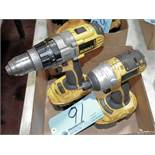 """Lot-(1) DeWalt DCD940, 18-Volts 1/2"""" Cordless Drill with Battery"""
