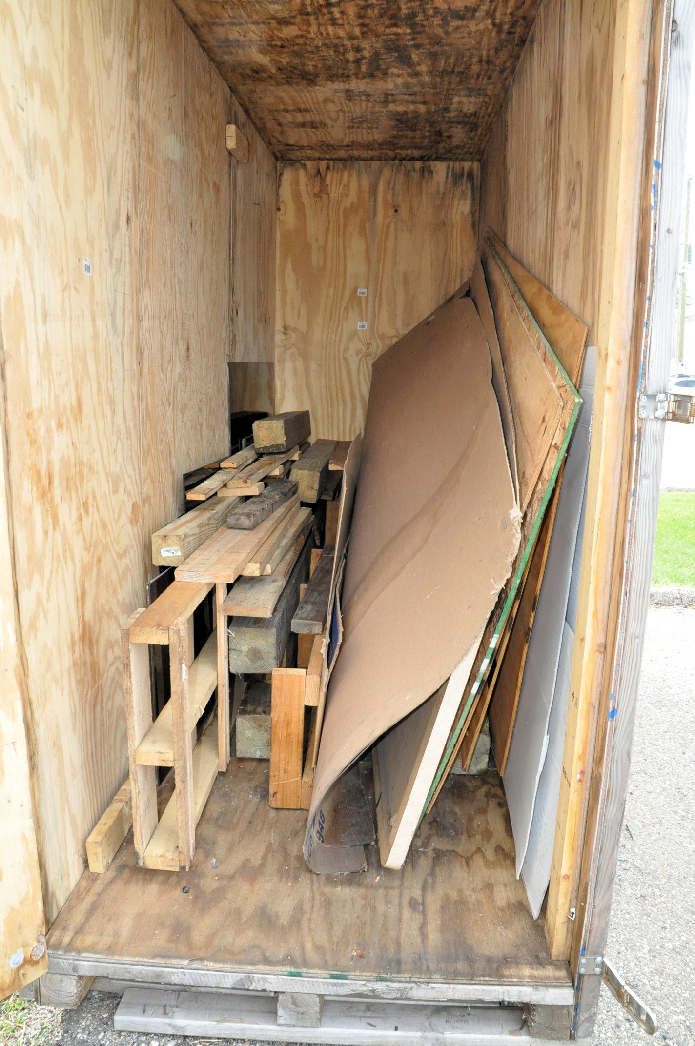Lot 356 - Lot-Wood Shipping Container with Lumber Contents, (Outside)