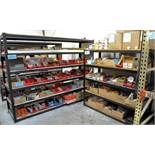 Lot-(4) Sections Steel Shelving, (Contents Not Included)
