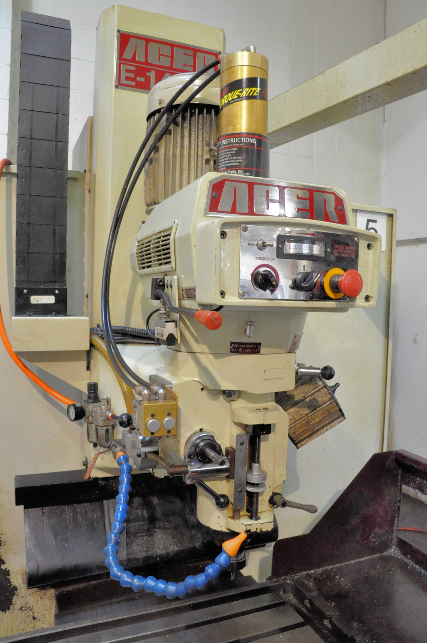 Acer Model E-1454B, 3-Axis CNC Bed Type Vertical Milling Machine, Fagor Control 5-HP (2009) - Image 4 of 7