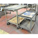 Lot-(2) 4-Wheel Shop Carts