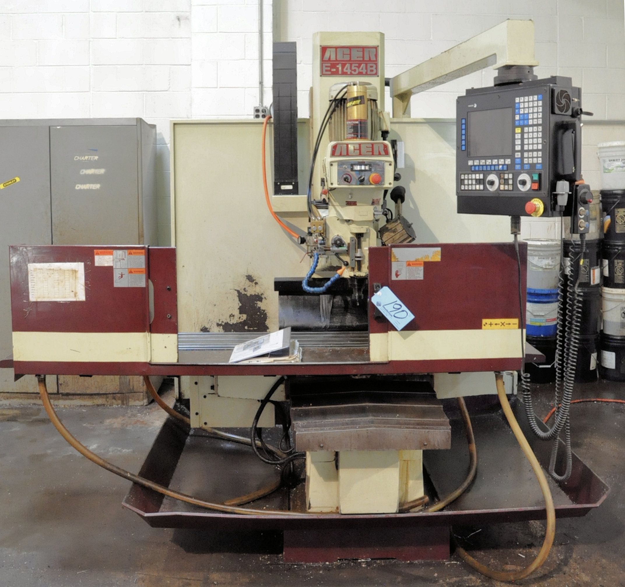 Acer Model E-1454B, 3-Axis CNC Bed Type Vertical Milling Machine, Fagor Control 5-HP (2009) - Image 2 of 7