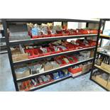 Lot-Hardware etc. on (1) Section, (Shelving Not Included)