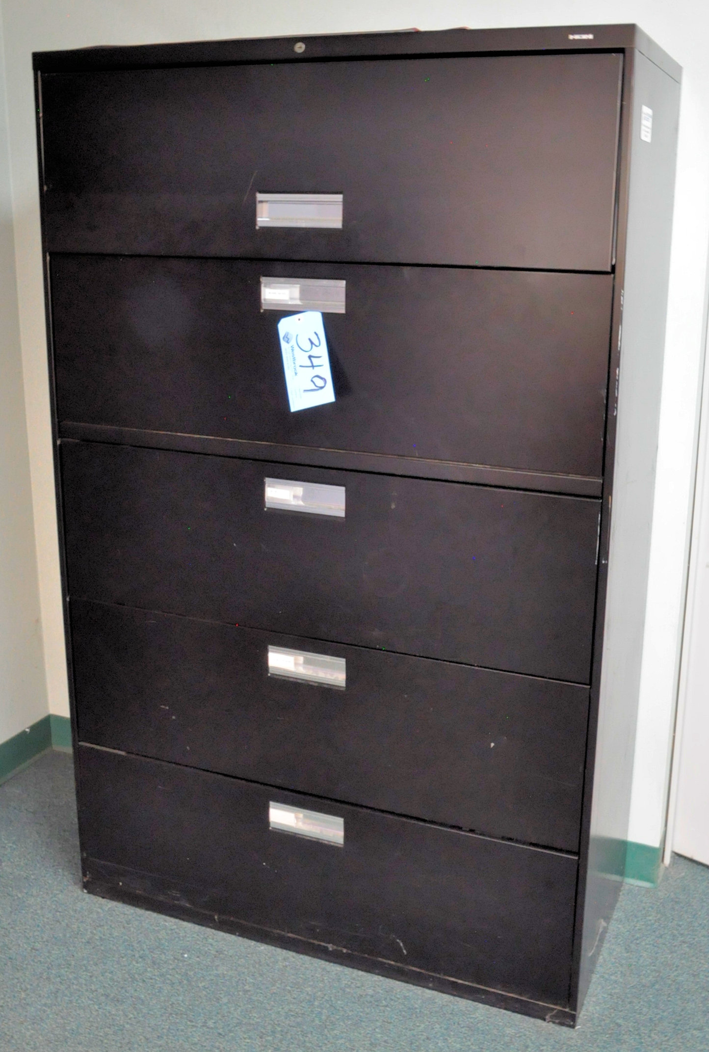 Modular Office Desk System with (2) Chairs and Lateral File Cabinet, - Image 2 of 2