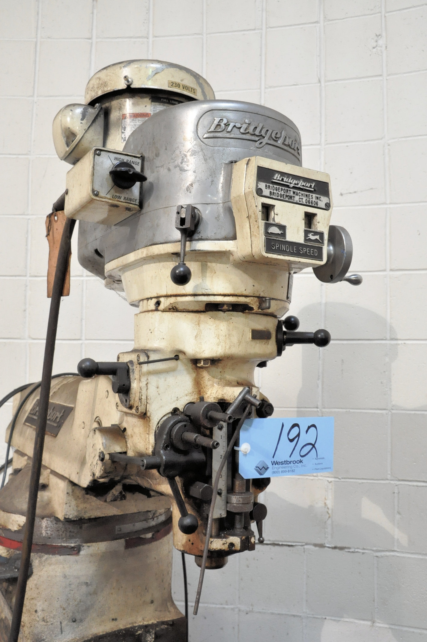 "Bridgeport 2-HP Variable Speed Vertical Milling Machine, 9"" x 48"" Table, Newall Topaz Readouts - Image 2 of 2"