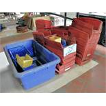 Lot-Parts Bins and Plastic Tote