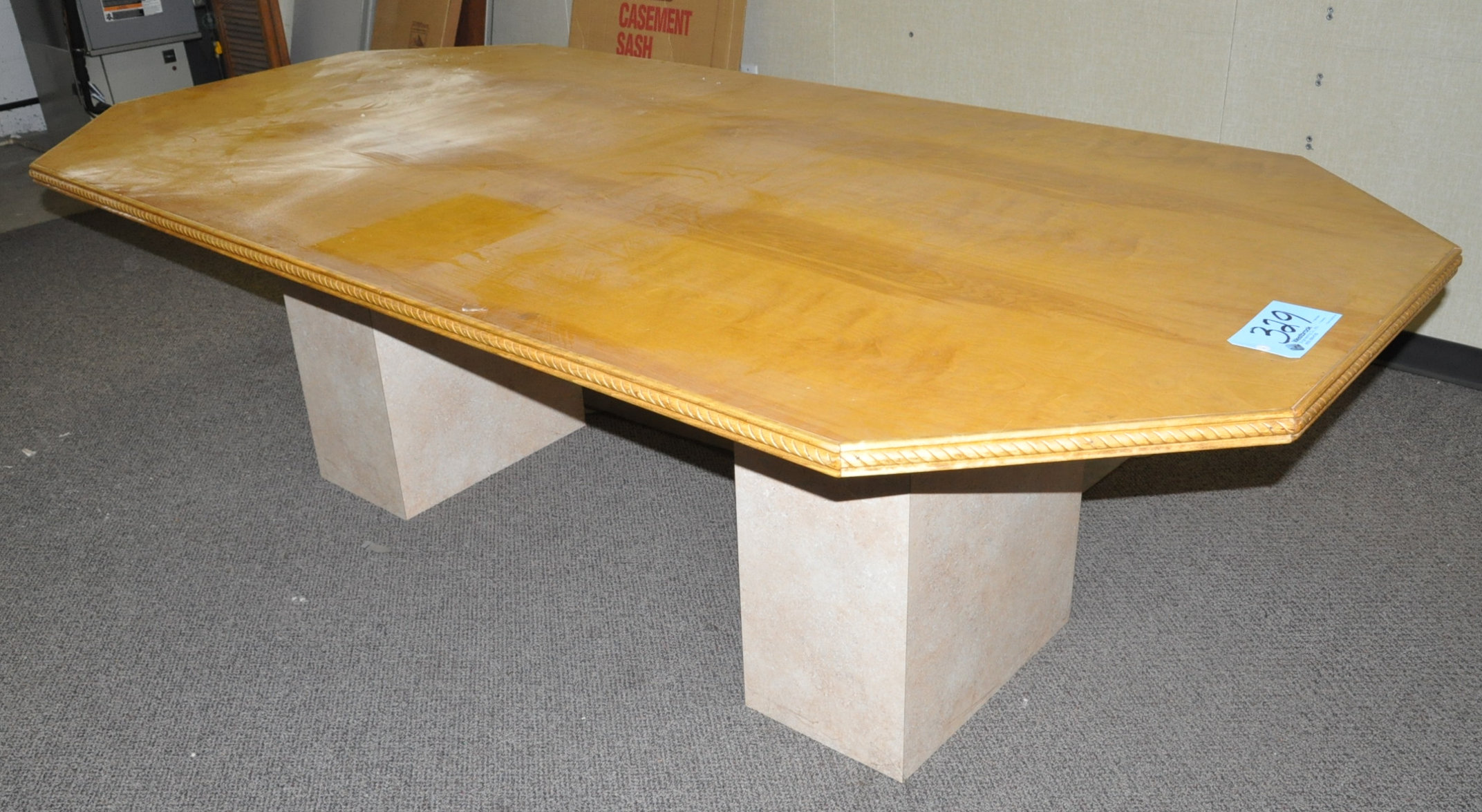 Lot-Cubicle Partition Stations and Components with Conference Table & Chairs (Must bring downstairs)