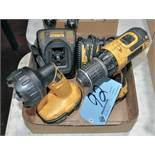 """Lot-(1) DeWalt DC742, 12-Volts 3/8"""" Cordless Drill with Battery, (1)"""