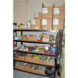 Lot-Conveyor Parts Inventory on (1) Section, (Shelving Not Included)