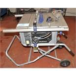 """Kobalt Model KT1015, 10"""" Portable Table Saw, S/n 98139"""