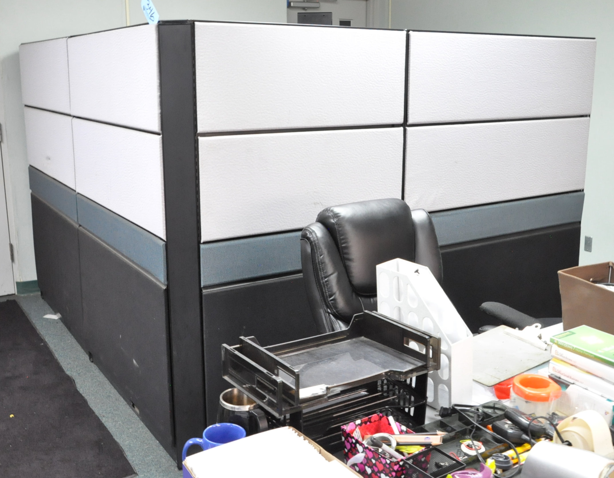 Cubical Partition Work System and Cubicle Panels in (1) Room, (Furniture Not Included)