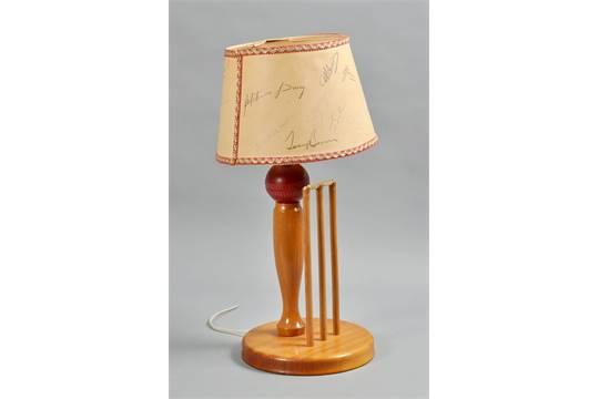Gray Nicolls Novelty Table Lamp, Cricket Ball Lamp Base