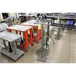 (4) ASSORTED MATERIAL ROLLER STANDS