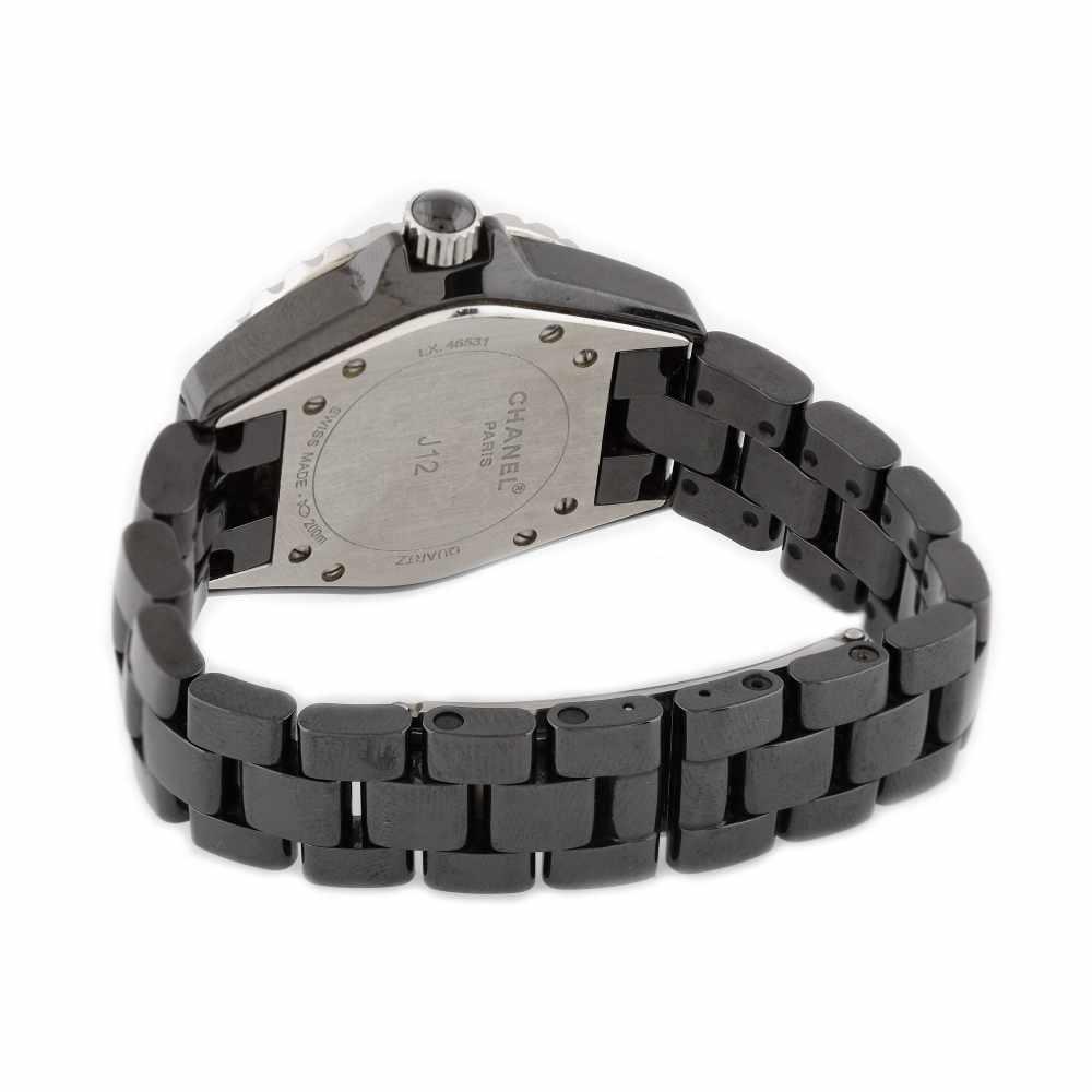 Chanel bracelet watch, women, decorated with diamonds - Bild 3 aus 3