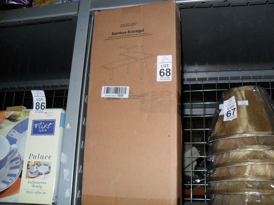 Lot 68 - BOXED BAMBOO CORNER SHELF (EX-SHOP DISPLAY)