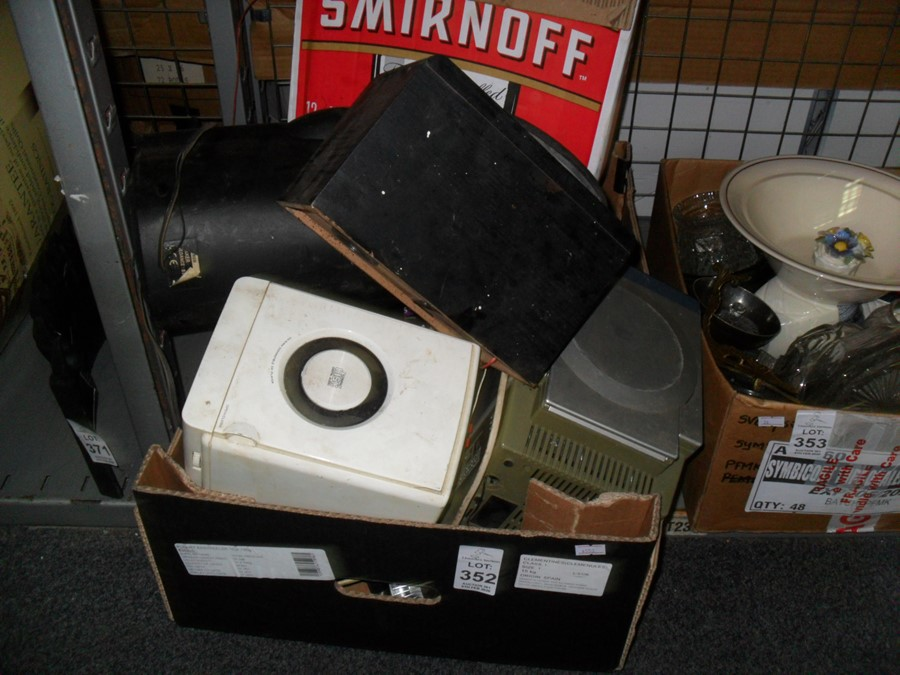 Lot 352 - 2 BOXES OF CD PLAYERS ETC