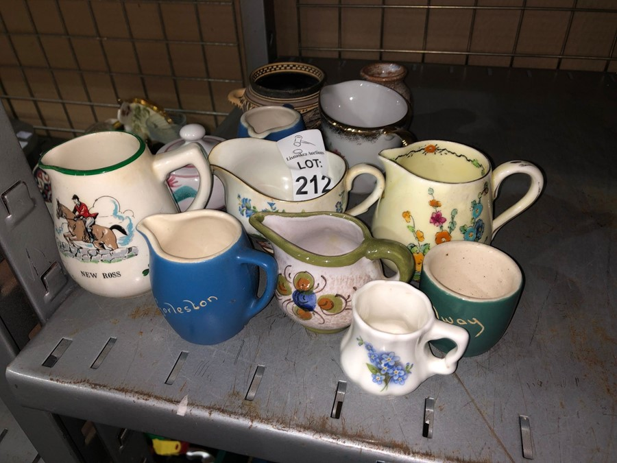 Lot 212 - LOT OF SMALL JUGS/POTS