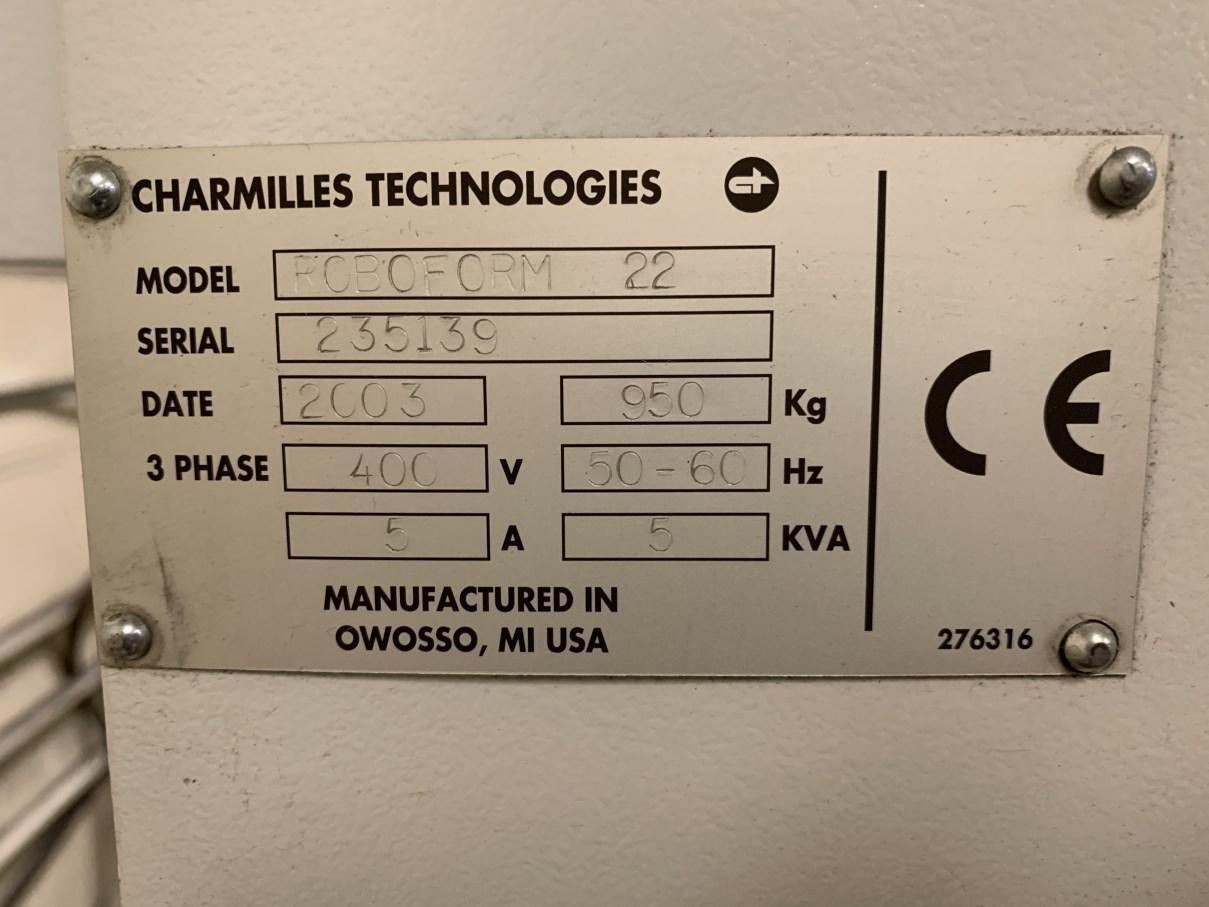 """Lot 50 - 2003 CHARMILLES ROBOFORM 22 EDM's, s/n 253139, 15.7"""" x 11.8"""" Worktable Dimensions, 37"""" x 20.9"""" x 13"""""""