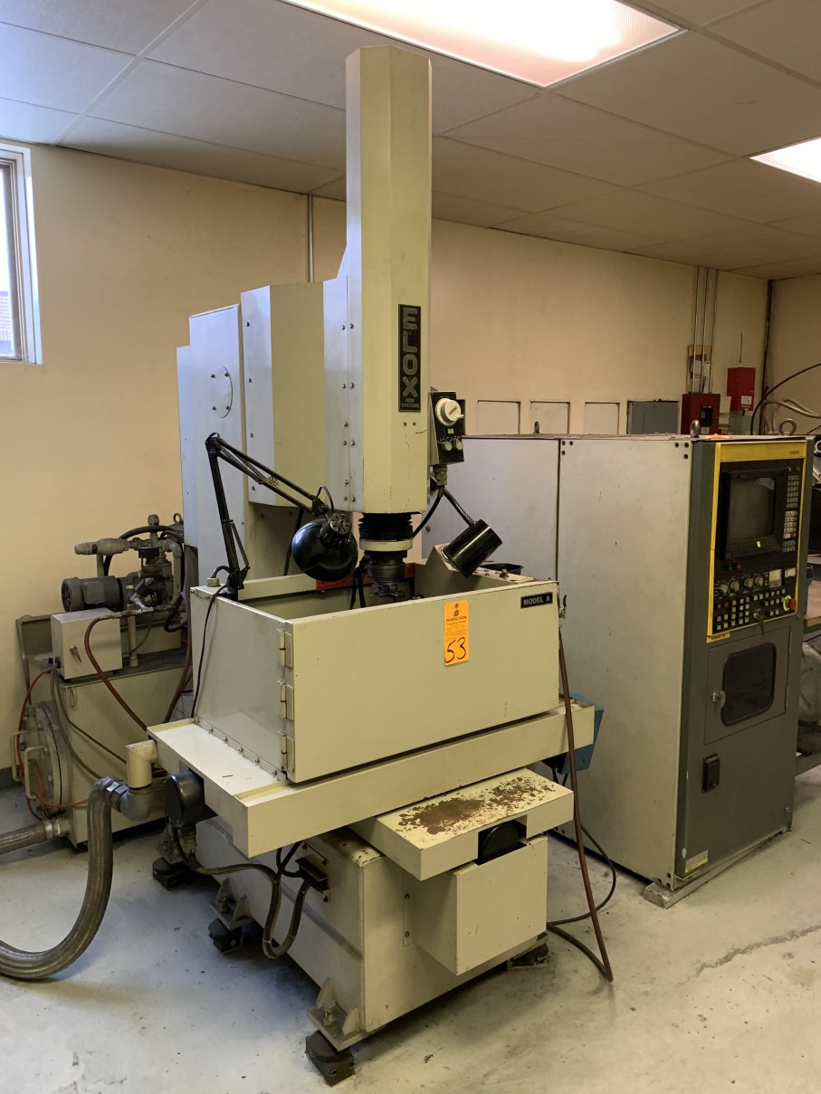 """ELOX/FANUC TAPE SINK MODEL A EDM, s/n S-6A0024, Fanuc System 11M CNC Control, 19.75"""" x 11.75"""" Table, - Image 2 of 7"""