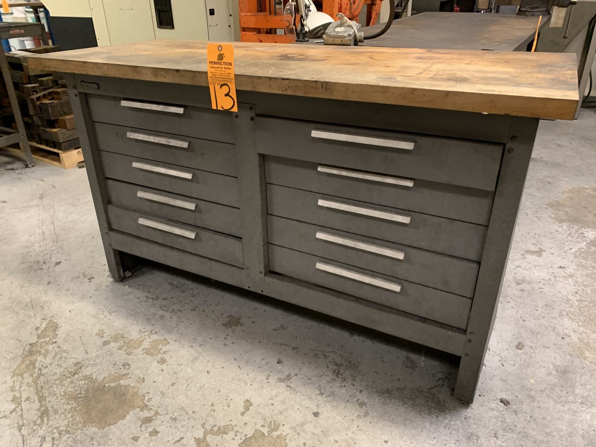 Lot 13 - Kennedy Wood Top Work Bench (Located at: Goudie Tool & Engineering )