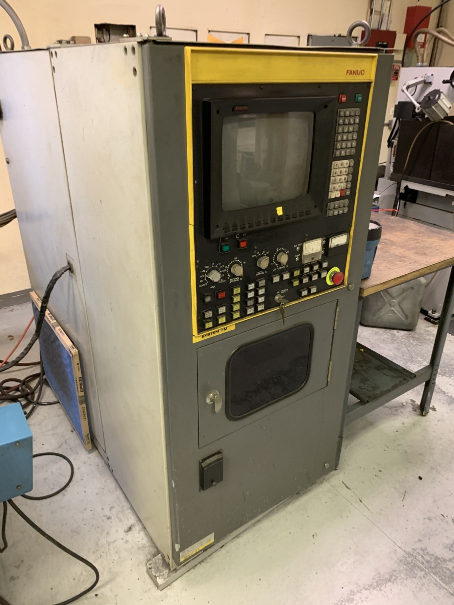 """ELOX/FANUC TAPE SINK MODEL A EDM, s/n S-6A0024, Fanuc System 11M CNC Control, 19.75"""" x 11.75"""" Table, - Image 4 of 7"""