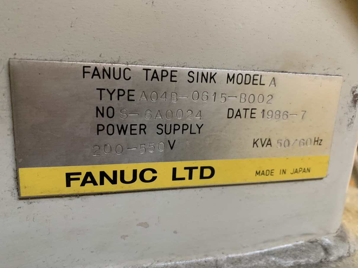 """ELOX/FANUC TAPE SINK MODEL A EDM, s/n S-6A0024, Fanuc System 11M CNC Control, 19.75"""" x 11.75"""" Table, - Image 7 of 7"""