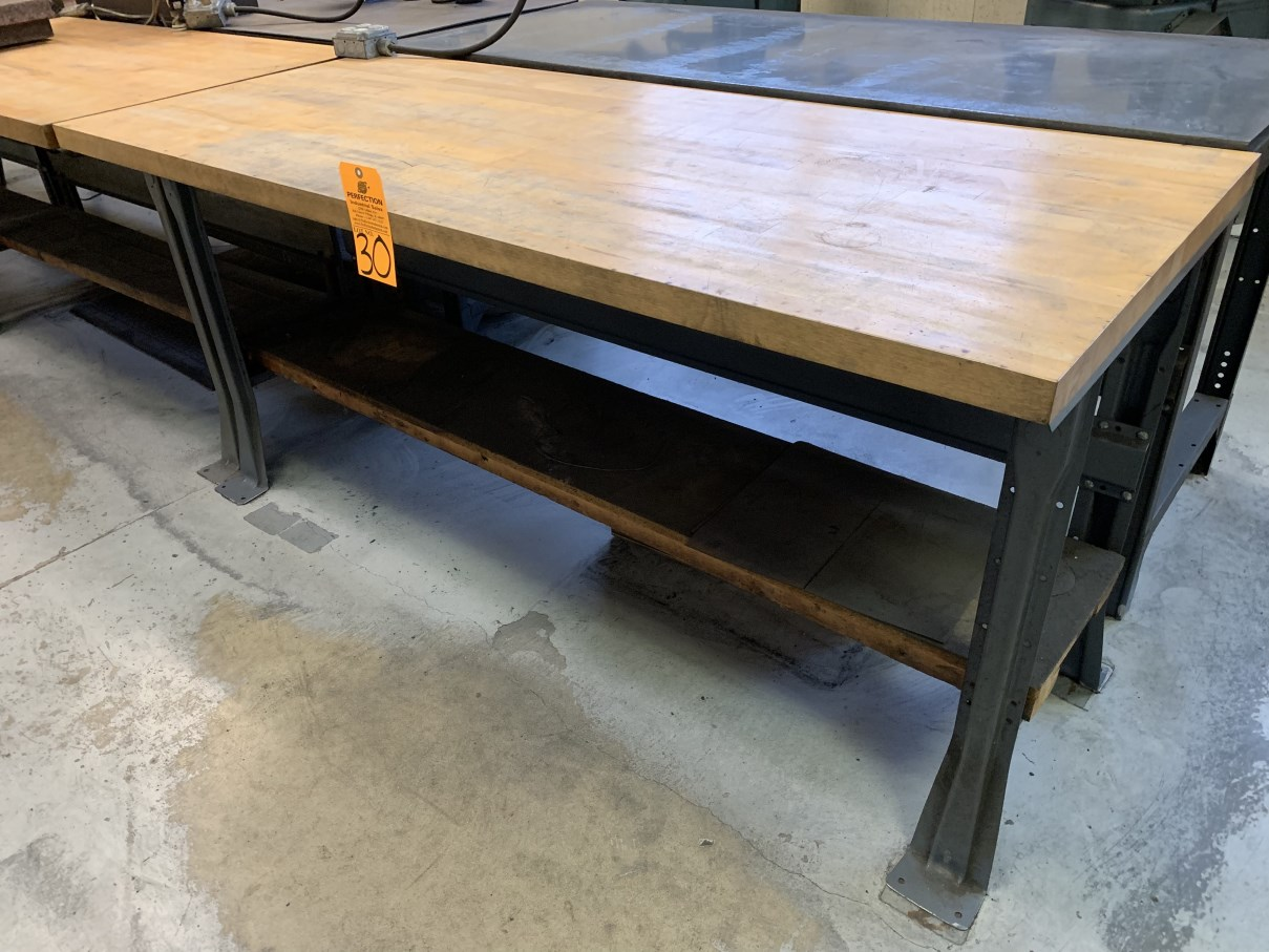 """Lot 30 - 30"""" x 72"""" Wood Top Work Bench (Located at: Goudie Tool & Engineering )"""