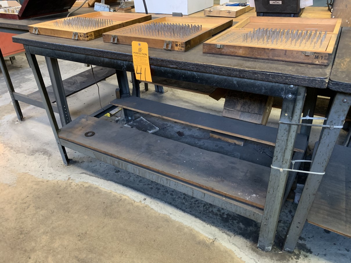 "Lot 41 - 30"" x 60"" Work Bench (Located at: Goudie Tool & Engineering )"