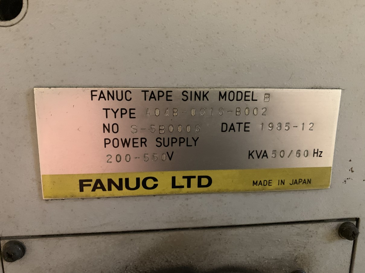 """ELOX/FANUC TAPE SINK MODEL A EDM, s/n S-6A0024, Fanuc System 11M CNC Control, 19.75"""" x 11.75"""" Table, - Image 6 of 7"""
