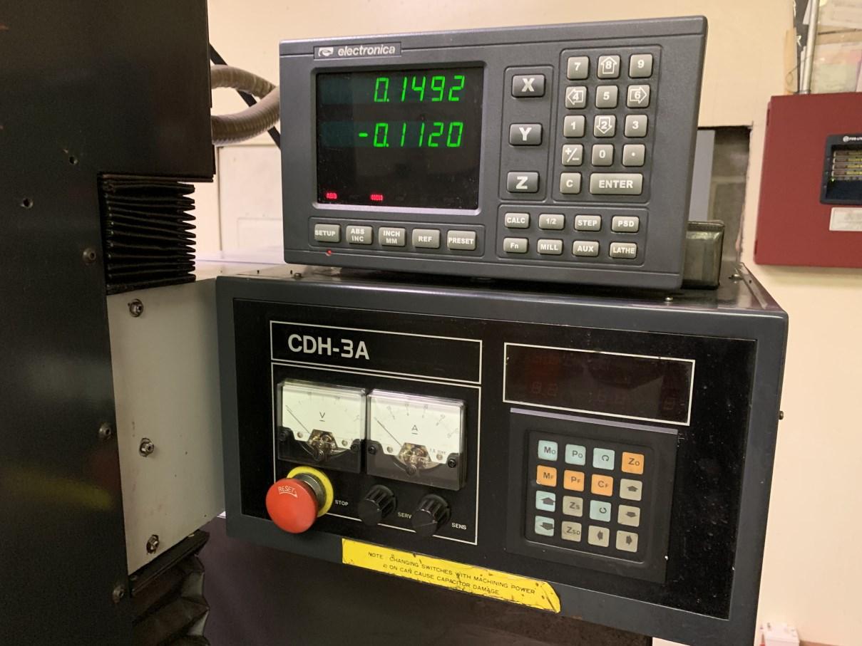 """Lot 54 - ASTEC CDH-3A HOLE POPPER EDM, s/n H3A-880302403, 12""""X, 8"""" Y, 10"""" Z, .012"""" Min Hole Dia, .12"""" Max"""