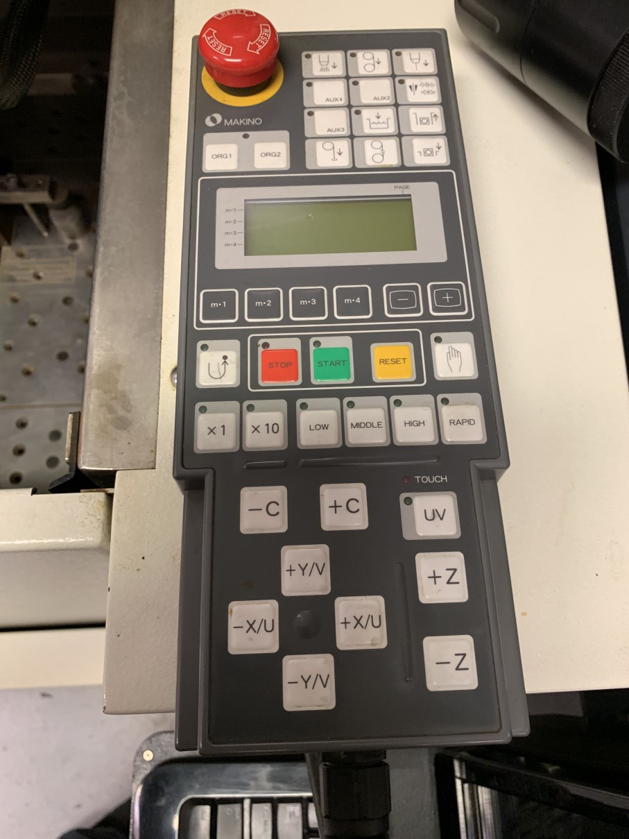"Lot 46 - 2013 MAKINO U3 H.E.A.T. Wire EDM, s/n W140093, Hyper I CNC Control, 24.8"" x 17.7"" Table, 14.6""X,"
