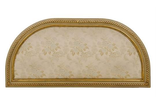 TESTATA da letto a mezza luna stile Luigi XVI in legno laccato e ...