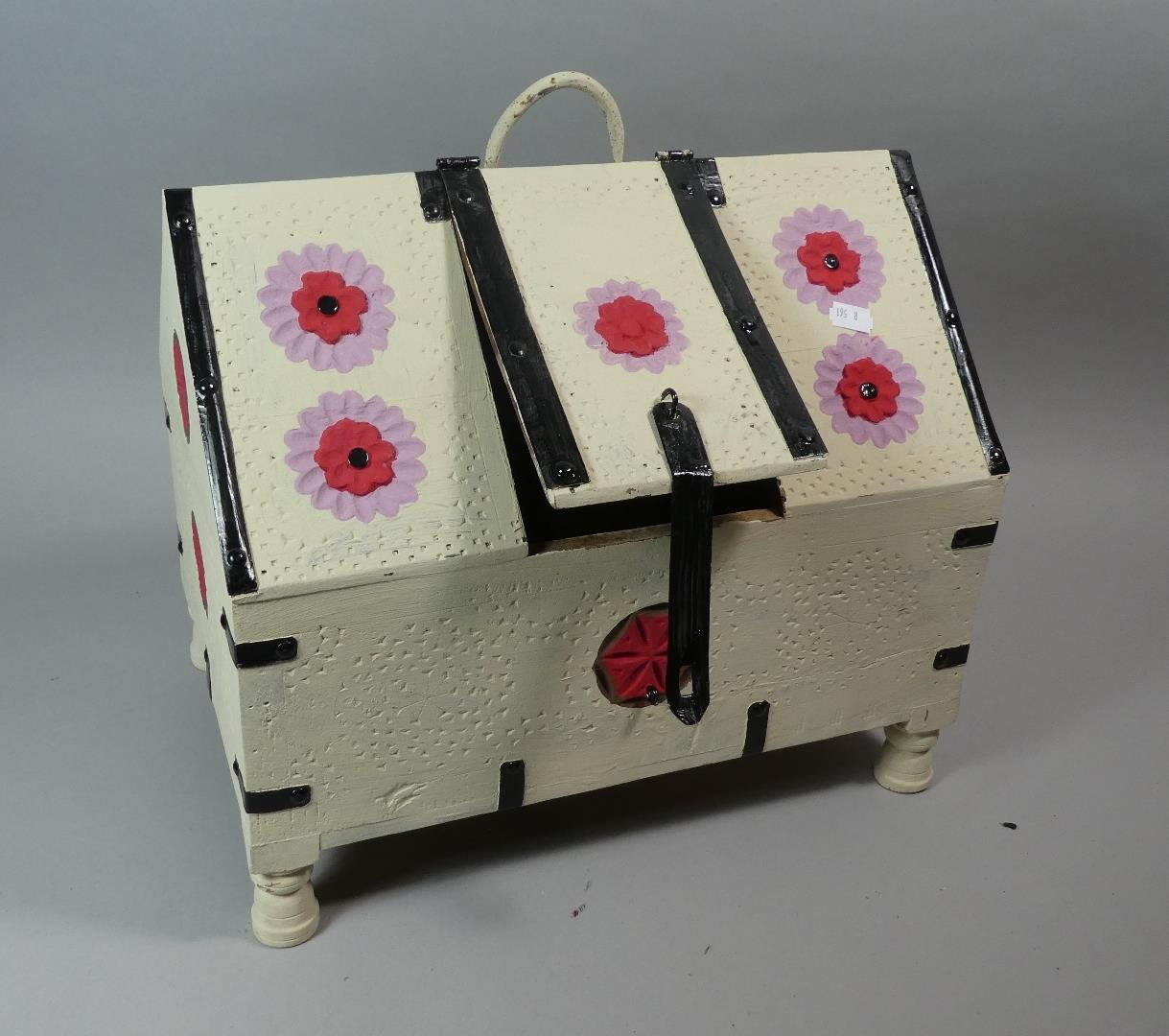 Lot 107 - A Novelty Storage Box in the Form of a House, 40cm Long