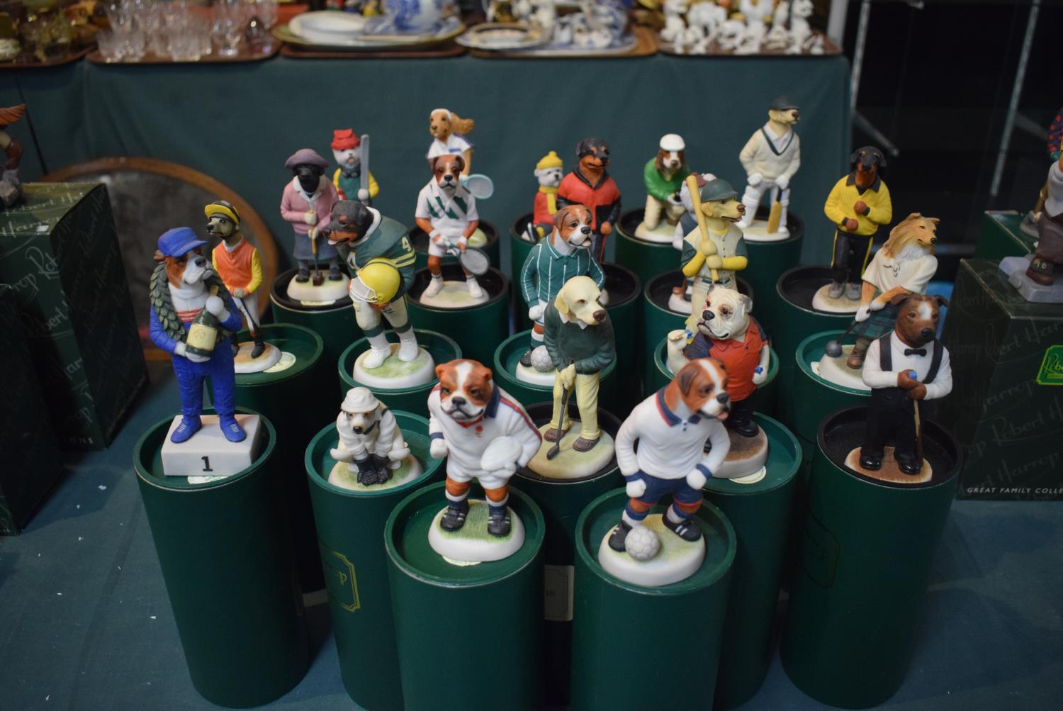 Lot 207 - A Collection of Twenty-two Boxed Robert Harrop Country Companion Dog Figures on a Sporting Theme