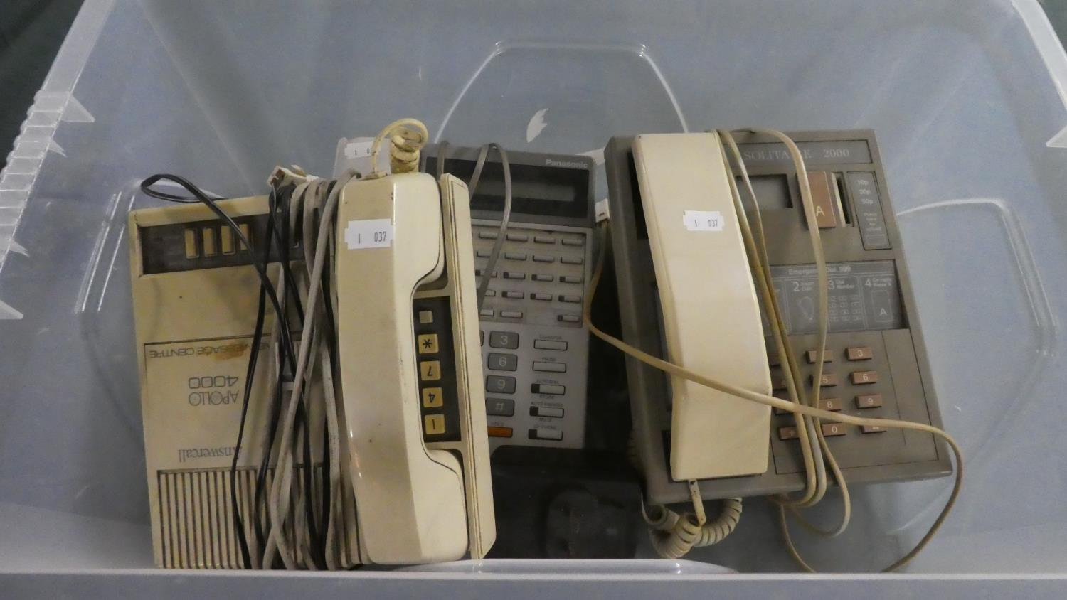Lot 345 - A Collection of Three 1970's Telephones to Include Payphone etc