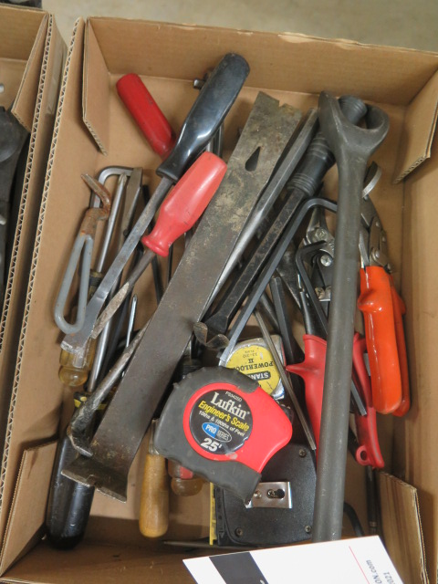 Lot 31 - Pry Bars and Misc Tools