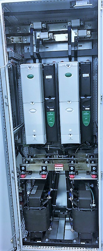 Lot 28 - (7) CONJOINED CABINETS W/ (1) EMERSON CTLR 0151 PHASE 1 CONTROLLER, MODEL ECOP12061-01, S/N 12061-