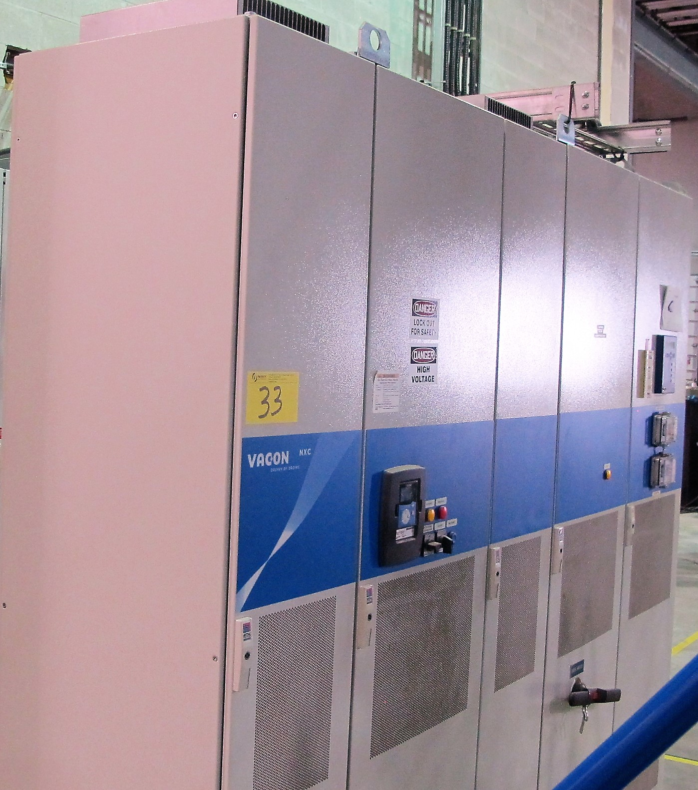 Lot 33 - (5) PANEL VACON NXC ELECTRICAL TESTING CABINETS AND INFEED CABLES FROM MCC