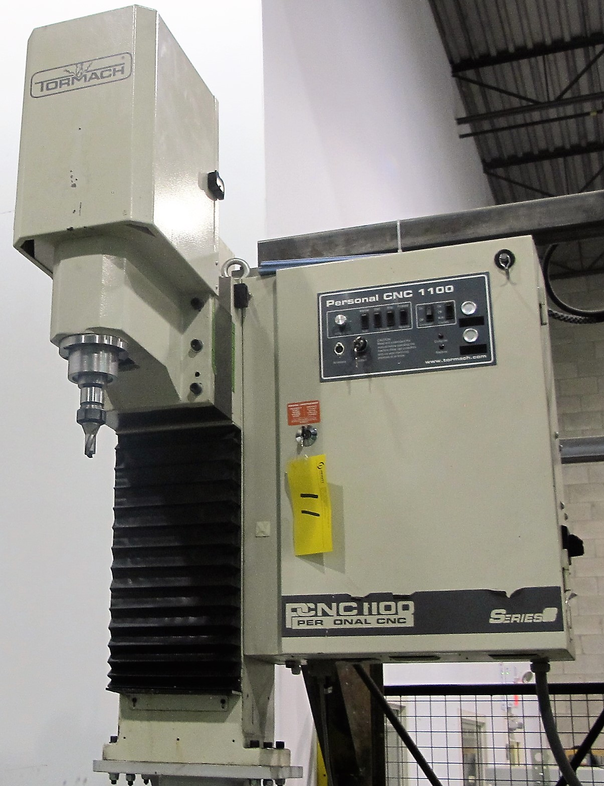 Lot 11 - TORMACH PERSONAL CNC 1100 NC SERIES 3 MILLING MACHINE W/DELL PC COMPUTER/CABINET, S/N 2304 (