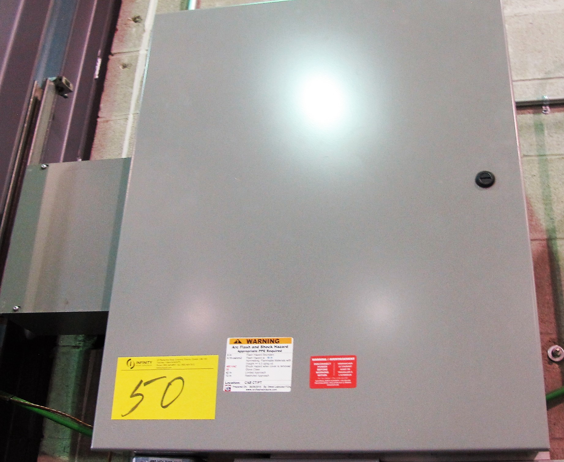 Lot 50 - REACTOR ELECTRICAL CABINET, COOLING PUMP TEST STATION