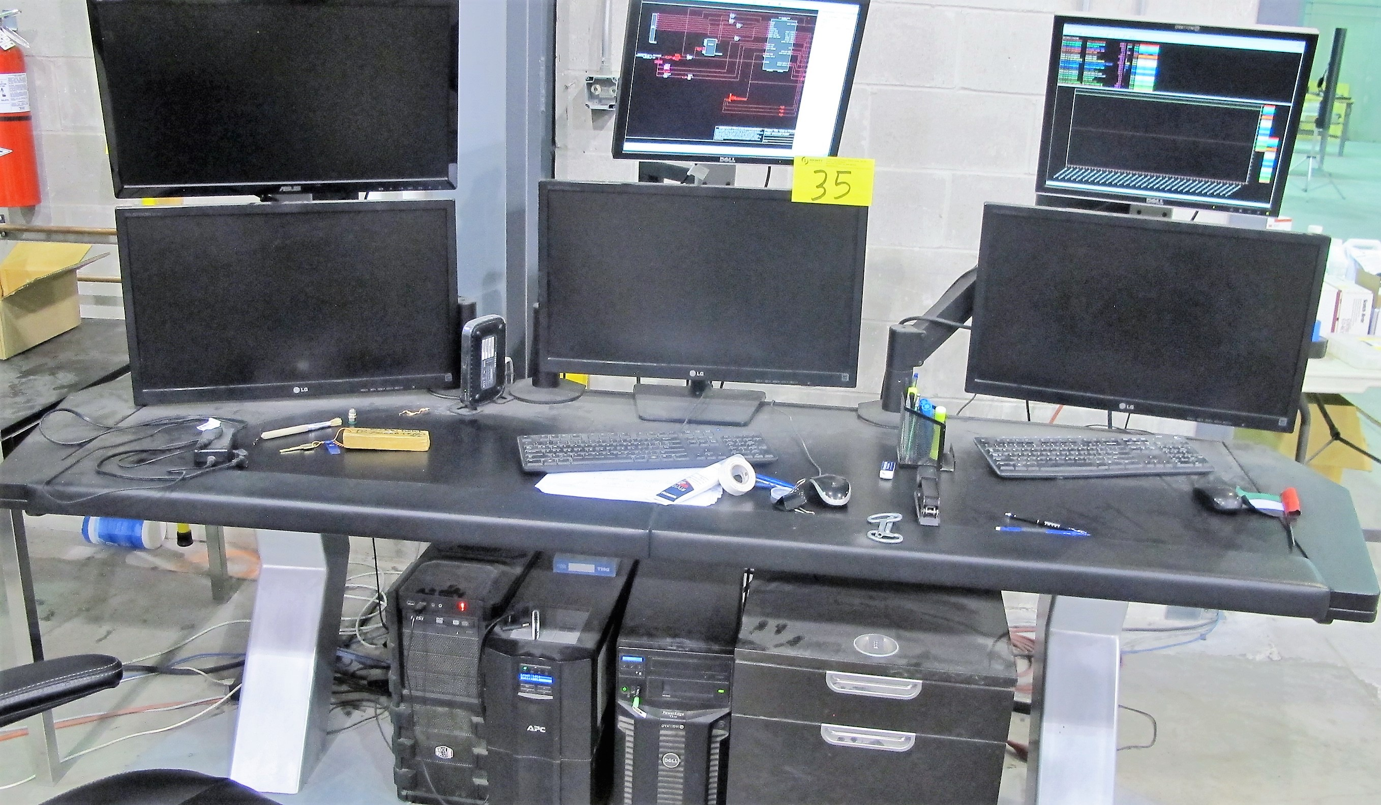 Lot 35 - DELL POWER EDGE T310/COOLMASTER/APC BACKUP COMPUTER CONTROL CENTER FOR ELECTRICAL TEST VAULTS (INCL.